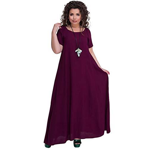 b375a054de loonBonnie Vestido casual de las mujeres de la manera del verano Vestido de manga  corta del