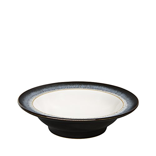 Denby Halo Wide Rimmed Soup Cereal Bowl, Set of 4 (4 Rimmed Soup Bowls)