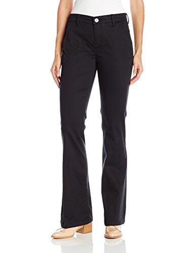 LEE Women's Modern Series Curvy Fit Publisher Slim Bootcut Pant, Black, 14