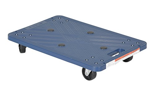 Vestil POS-1624 Plastic Dolly with Molded Handle, 220 lbs Capacity, 23-3/8