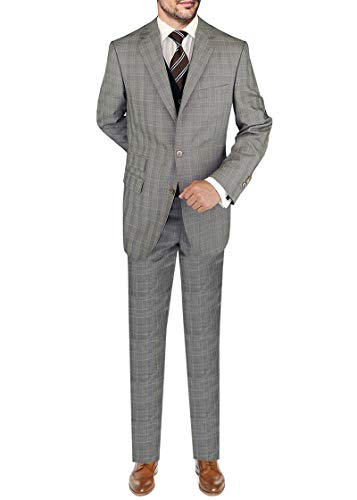 DTI BB Signature Italian Wool Men's Vested Suit 3-Piece Extra Pant Total 4-Piece (42 Short US / 52S EU/W 36