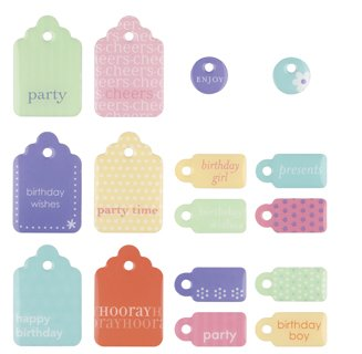 MAKING MEMORIES Sweets Dimensional 2-Sided Embellishments, Tags - Sweets Embellishments Dimensional 2 Sided