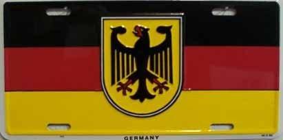 Amazoncom Germany Flag with Eagle License Plate Automotive