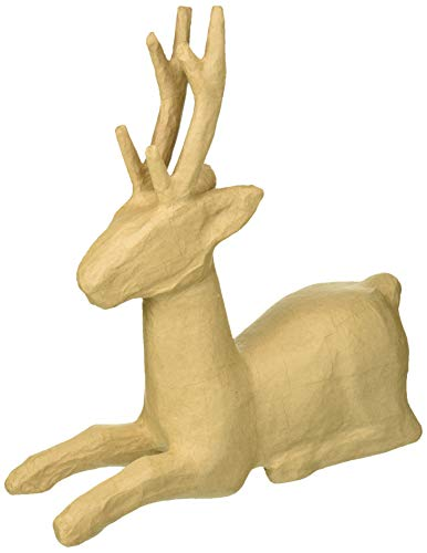 (Craft Ped Paper CPLMB0182 Deer Sitting Mache,)