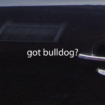(GOT BULLDOG? DECOR CAR CAR WHITE WALL ART NOTEBOOK DIE CUT LAPTOP DECORATION DECAL STICKER WINDOW GEORGIA BUTLER FOOTBALL WALL BIKE)