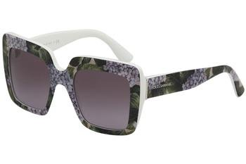 Dolce & Gabbana Women's 0DG4310 Print Hydrangea On White/Violet Gradient One - On Print Sunglasses