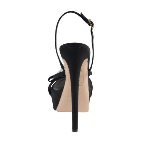 Dsquared Damesschoenen Zwart Slingback Platform Sandalen Zwart