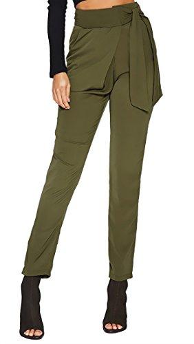 MISTY STORY Women's Casual Loose High Waist Straight Leg Skinny Slim Long Pants by MISTY STORY