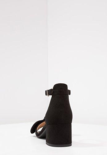 Fiocco Con Dettaglio E Sintetico Tacco Sandali Alla Nero Caviglia Medio Cinturino Field Aperta Anna In Camoscio Le Donne Donna Punta Per Piccolo EZqSnanBxw