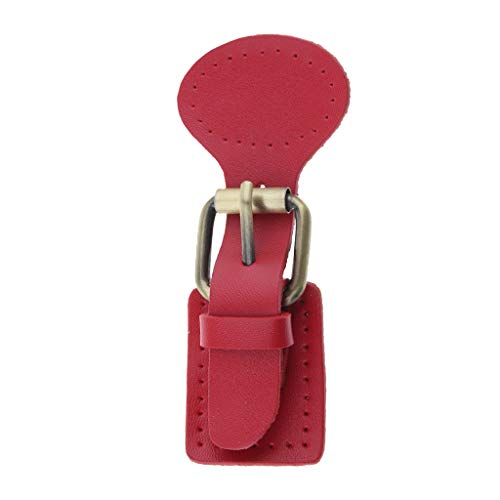 Chiusura B pelle di Spilla Rosso ricambio per Sacchetto Baosity Fibbie a Accessori scatto cucire per Artigianato zaino in 5r5Y1H