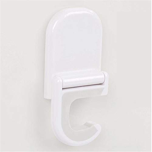 ViShow 2019 Hot Sale!!!White Home Adhesive Support Broom Ladle Handed Wall Clip Hook,Wall Mounted Storage Rack,Without Nails Reusable Seamless Hooks For Hanging Bathroom Kitchen (White)