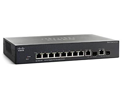 Cisco SG 300-10P (SRW2008P-K9-NA) 10-Port Gigabit PoE Managed Switch