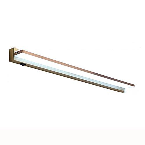LJHA jingqiandeng LEDブロンズシンプルなミラーフロントライトバスルームミラーキャビネットライトドレッシングテーブルミラーライトベッドサイドウォールランプ (色 : 白色光, サイズ さいず : 50cm-8W) B07M8V8HBP  白色光 50cm-8W