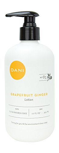 DANI Naturals Body Lotion, Grapefruit Ginger, 12 Fluid Ounces. - Ginger Hydrating Body Lotion