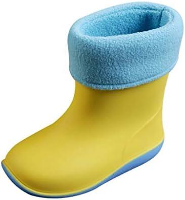 レインブーツ 防水 プラスベルベット 靴 男の子 女の子 子供ブーツJopinica 超可愛い 軽量通気 滑り止め 子供用 カジ