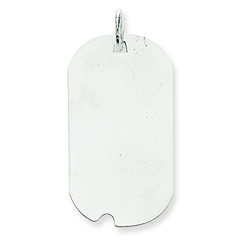 Or blanc 14 carats-Dog Tag-JewelryWeb disque charme