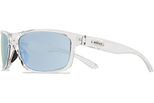 Revo Harness RE 4071 09 BL Polarized Wrap Sunglasses, Crystal, 61 - Sunglasses Revo