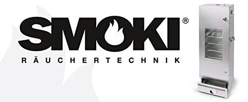SMOKI R/äucherofen 85x39x33cm aus FAL-Stahlblech mit Scheibe