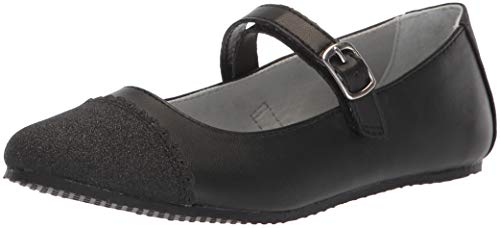 Cheap Mary Janes (Stride Rite Girls' SR Valeria Mary Jane Flat, Black, 3 M US Little)