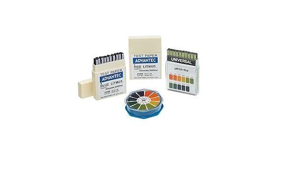 Advantec W-R Whole Range pH Test Paper; pH Range 1 to 14; 9 mm x 5.5 m Roll