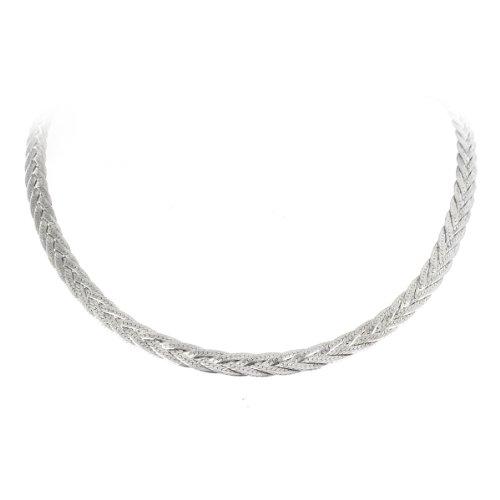 Tous mes bijoux - CDMC743 - Collier Chaine Femme - Tresse Plate - 4 Fils - Argent 925/1000 16.6 gr - 45 cm