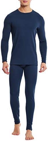 DAVID ARCHY Men's Ultra Soft Cotton & Acrylic Base Layer Thermal Set Long John