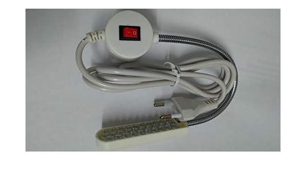 Flexo LED especial para maquinas de coser con IMAN: Amazon ...