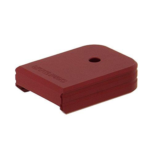 Base Pad - UTG Pro Plus 0 Base Pad, Glock Large Frame, Matte Red Aluminum