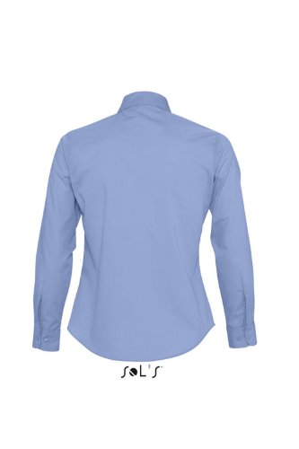 Sol 's – popelina de camisa de manga larga para Executive Azul - Middle Blue