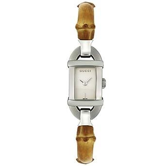 69b553c77b6 GUCCI Women s YA068526 6800 Series Light Brown Bamboo Watch  Amazon.co.uk   Watches
