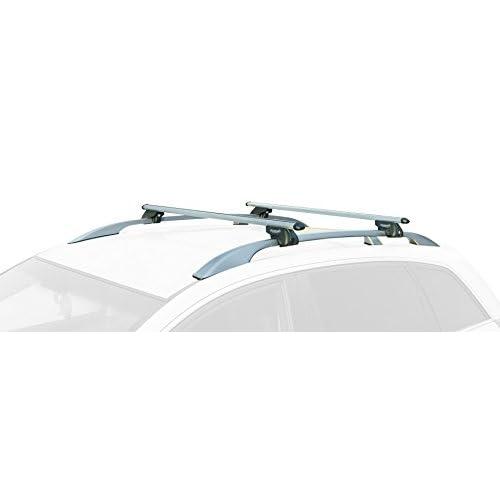 Summit Sup-930Premium Railing Barre de toit pour voitures avec rails surélevés, Aluminium, Lot de 2 durable modeling