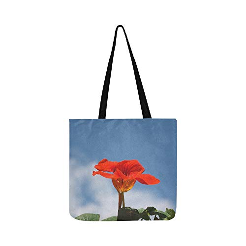 (Nasturtium Cress Blossom Bloom Carbine Greenhouse Canvas Tote Handbag Shoulder Bag Crossbody Bags Purses For Men And Women Shopping Tote)