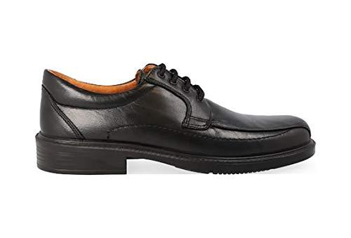 Negro Forro Marca Cordones 0105 Zapatos En La Piel Color 21 Hombre Y Piso Cordero Luisetti Antideslizante De Con Plantilla Piel Poliuretano 11pwzgxFq