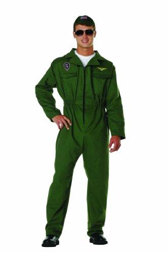 Plus Size Top Gun Costumes (RG Costumes Men's Top Gun, Olive Green, One Size)