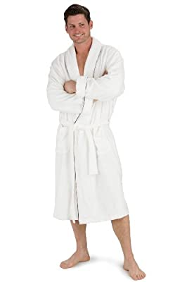 Fishers Finery Men's Premier Spa Robe, Chenille Micro Fiber Terry Fabric