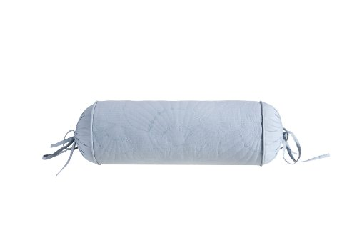 - Harbor House Crystal Beach Quilted Fashion Cotton Bolster Throw Pillow, Coastal Theme Bolster Pillow, D7X18, Blue