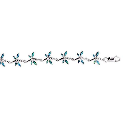 Argent sterling émail-Bracelet Femme-18cm