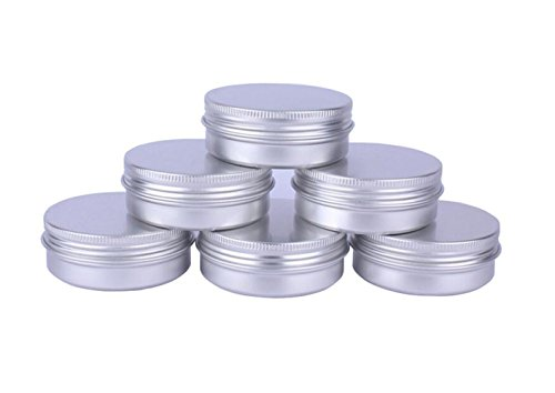 Upstore 10PCS Silver Empty Aluminum Cosmetic Sample Packing