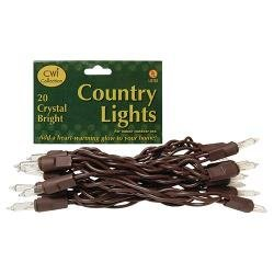 Heart of America Light Set, Brown Cord, 20ct