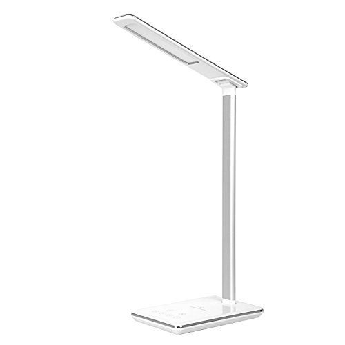Led Desk Lamp With Wireless Charging Pad For Qi Enabled