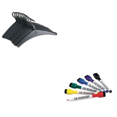 KITQRT20801QRT51659312 - Value Kit - Quartet Heavy-Duty One-Piece Molded Plastic Hangers (QRT20801) and Quartet ReWritables Dry Erase Mini-Markers (QRT51659312)