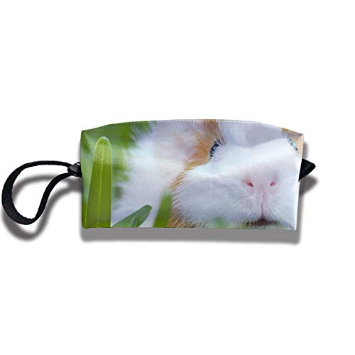 Cosmetic Bags With Zipper Makeup Bag Rabbit Bunny With Small Eyes Middle Wallet Hangbag Wristlet Holder]()