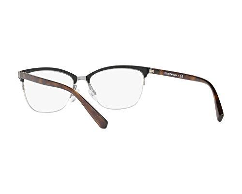 414012d6729773 Emporio Armani Montures de lunettes Homme Noir Noir argenté 52 LXBtp ...