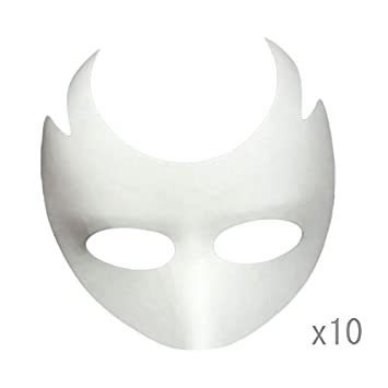 Meimask 10pcs Bricolaje Papel Blanco máscara de Pulpa en Blanco máscara Pintada a Mano Personalidad Creativa