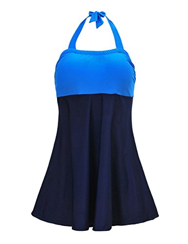 JOYMODE Women's Plus-Size Swimsuit Shaping Body One Piece Swimdress Swimsuits Swimwear