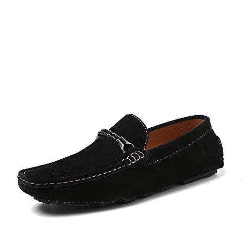 de de Zapatos y Zapatos casuales 28 Mocasines suave de cuero 24 Diseño cómodo liviano 0cm de genuino Negro Azul Verde conducción tamaño deslizamiento Rojo Penny único de hombres los Negro 0cm de Fvqw5