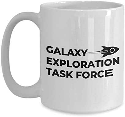 Astronaut Coffee Mug 15 Oz - Galaxy Exploration Task Force - Astronomy Astronomer Milky Way Galaxy Rocket Space Earth Moon Star Planet