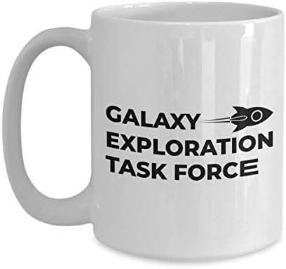 Astronaut Coffee Mug 15 Oz - Galaxy Exploration Task Force - Astronomy Astronomer Milky Way Galaxy Rocket Space Earth Moon Star Planet