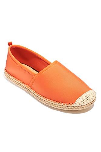 Sea Star Beachwear Women's Neoprene Beachcomber Espadrille Flat, Water-Friendly and Quick Drying Sea Star Orange 6 -