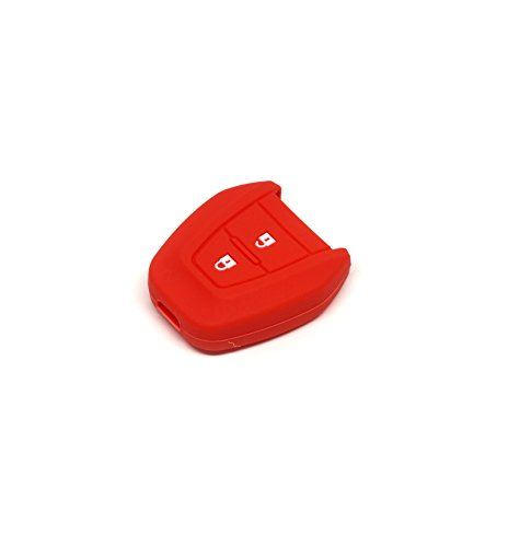 Isuzu D-Max Mu-x 2.5 Silicone Protecting Remote Key Case Cover Fob Holder for All New Isuzu D-max / Mu-x 2.5 (red)